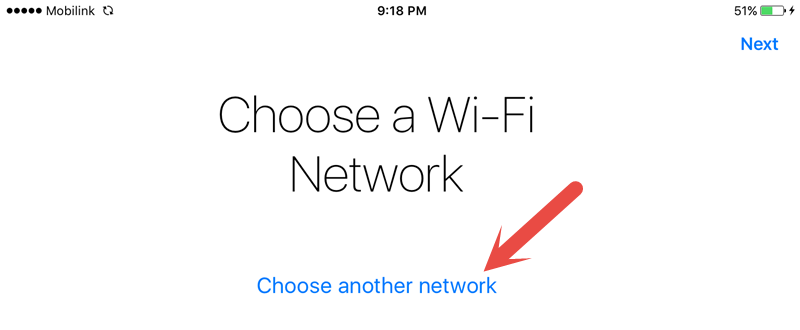Choose a wifi network