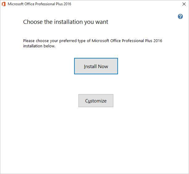 Choose the Installation