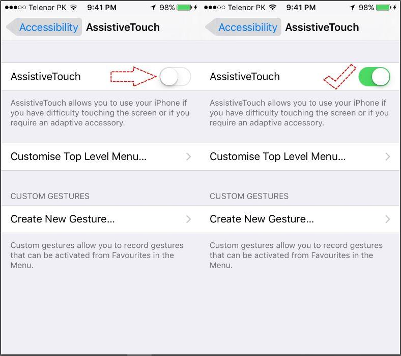 How to enable and Customise AssistiveTouch on iOS Device?