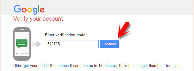 Google Verification Code