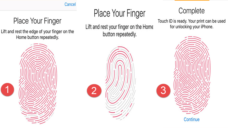 How to add fingerprint passcode to ios