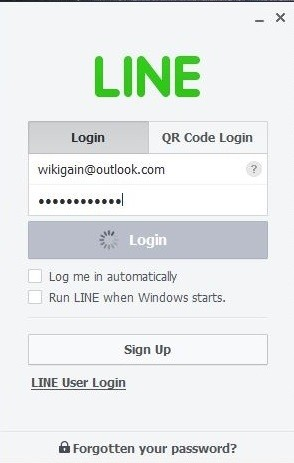 Log in to line