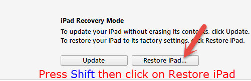 Restore iPad Software
