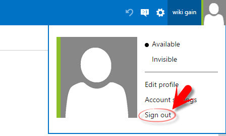 Sign Out from outlook