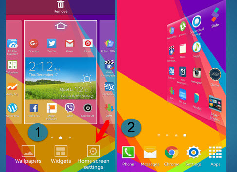 Galaxy S5 Home Screen 3D Effect