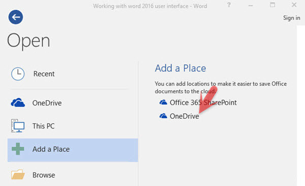 Add File to OneDrive