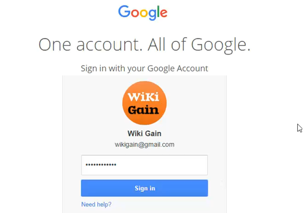 Sign In into Gmail Account