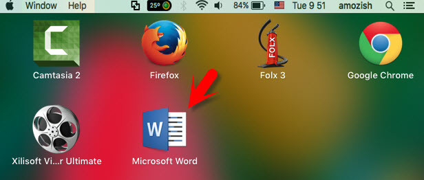 How to open word on Mac OS