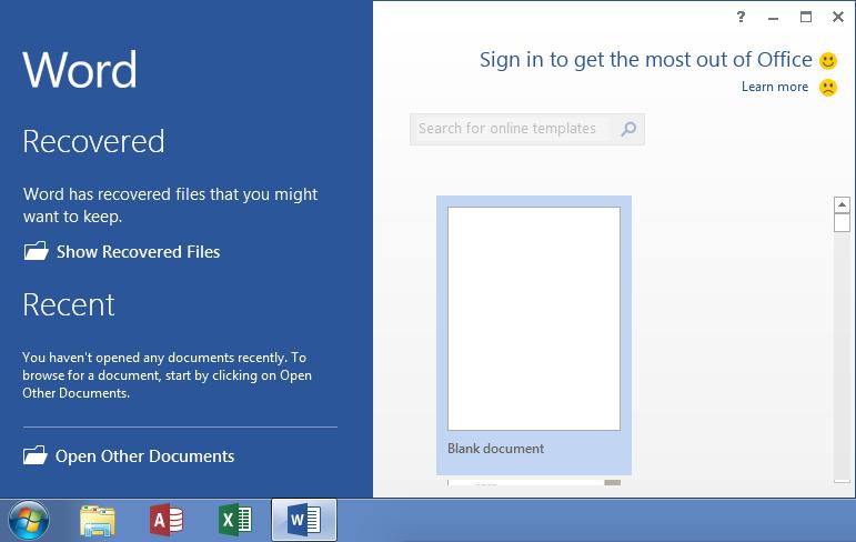 Open Word 2016 In Windows 7
