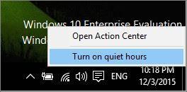 Configure Do Not Disturb in Windows 10