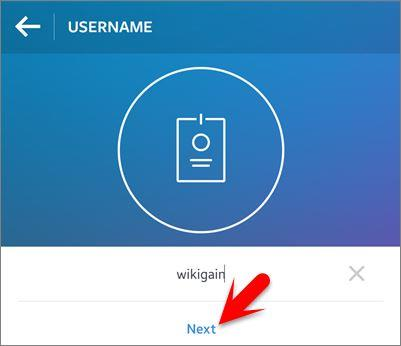 Type Username