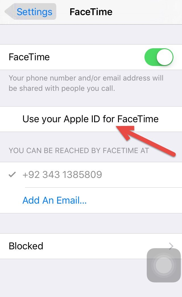 Use your Apple ID for FaceTime