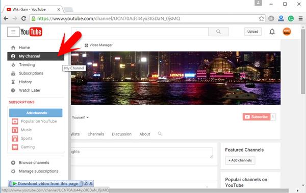 WikiGain YouTube Channel