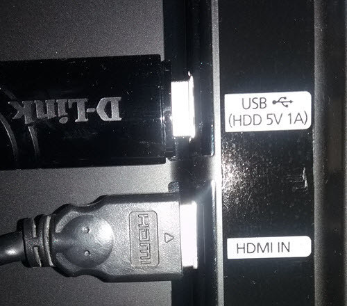 connect HDMI cable to tv