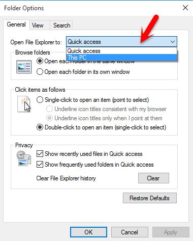 Change File Explorer View