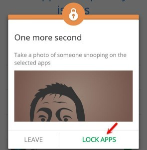 Click on Lock Apps