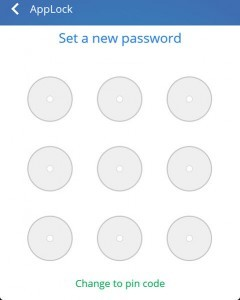 Create password pattern or pin