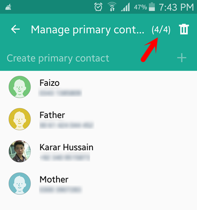 Customize Primary Contacts