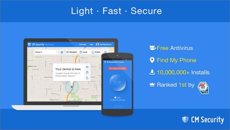 Free Smartphone Antivirus CM Security