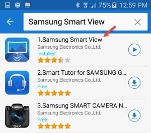 Select Samsung smart view