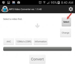 Select Video for Converting