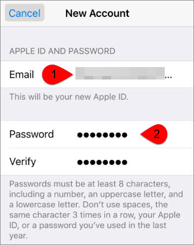 Apple ID and Password