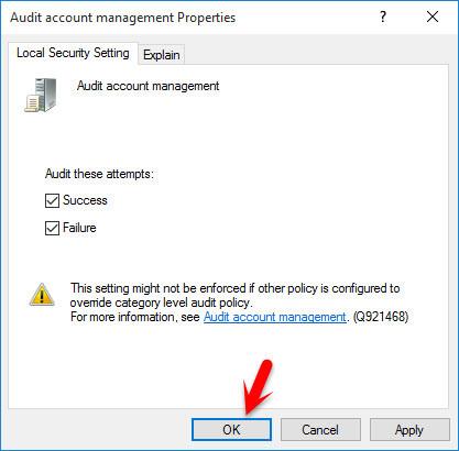 Audit Account Management