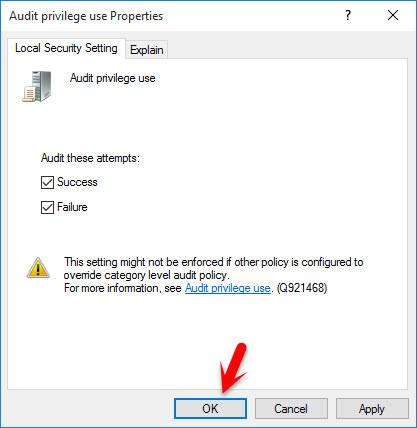 Audit Privilege Use