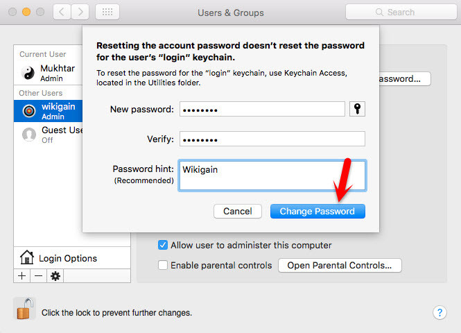 Reset Mac OS X El Capitan Password