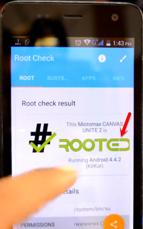 Check Root Device