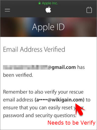 Email Address Verified