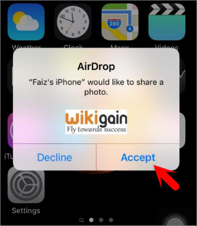 Get The Shared File Via AirDrop