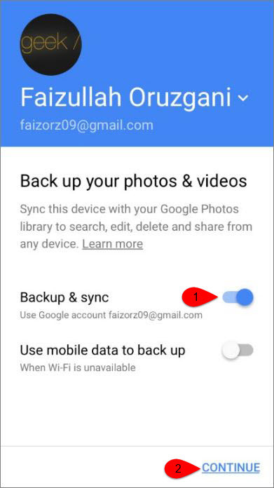 How to Backup iPhone Photos to Google Photos?