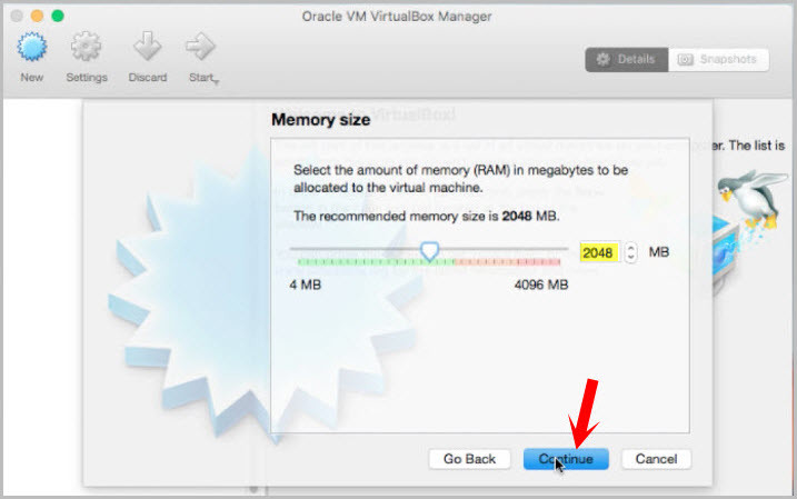 Choose Memory Size