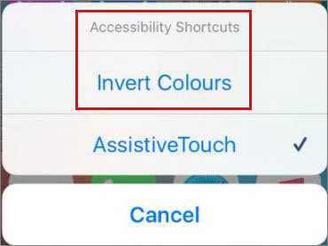 How to Invert iOS Devices Screen Colors.