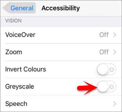 How to Change iOS Devices Screen Color to Greyscale or Black & White