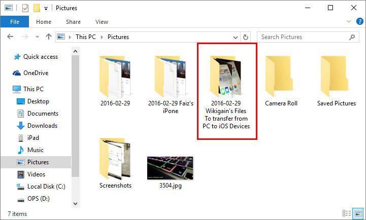 Folder of Photos