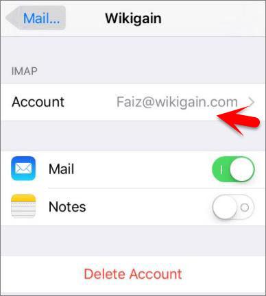 IMAP Account