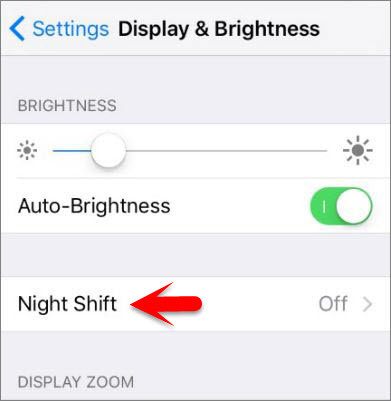 How to Enable and Disable Night Shift on iOS 9.3