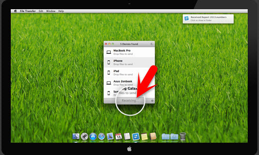 Recieving FIle from Android on Mac