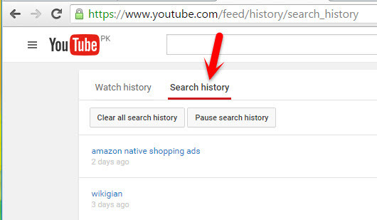 Search History on PC