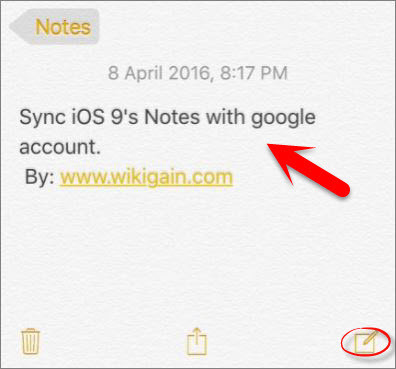 How to Sync iOS 9's Notes with Google Account?