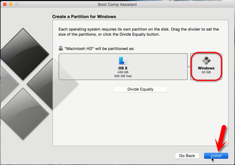 Create a Partition for Windows