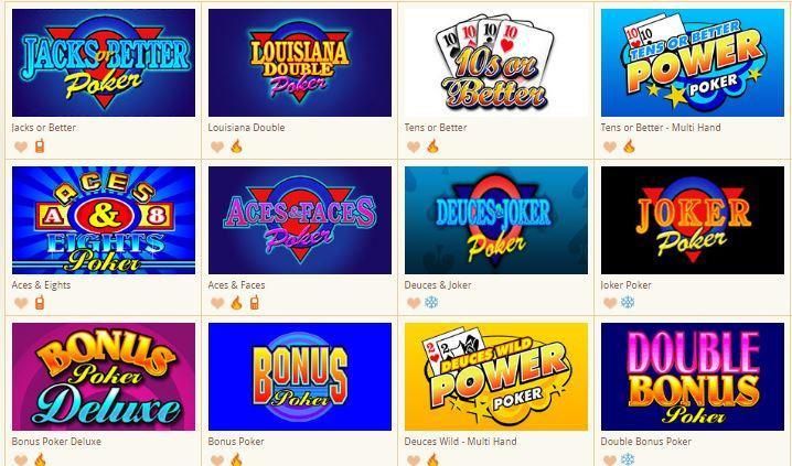 Play Video Poker Online