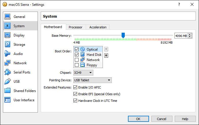How to Install macOS Sierra 10.12 on VirtualBox?