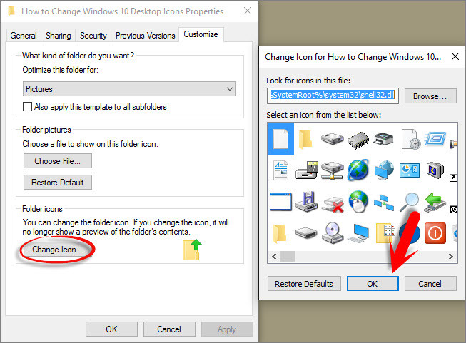 How to Change Windows 10 Desktop icons? - wikigain