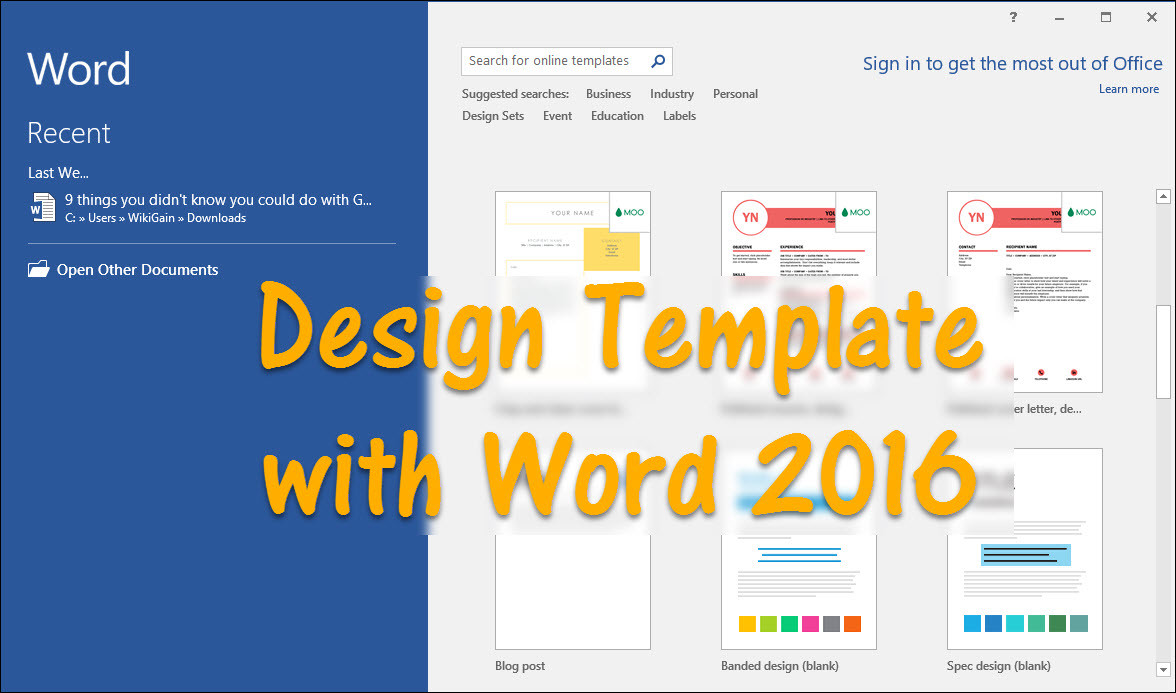 How to design template with word 2016 wikigain for Create design online