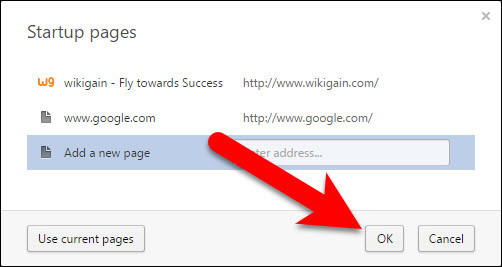 how to set mobile browser page
