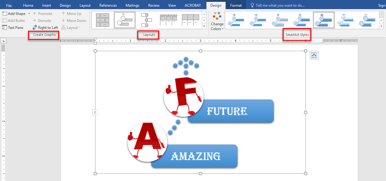 Graphics in ms word working with smartart graphics in microsoft office graphic organizers for Microsoft word graphic design