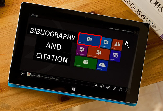 Word citations and bibliography